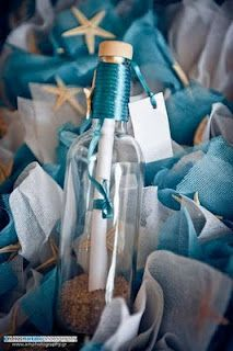 message in a bottle wedding invitation