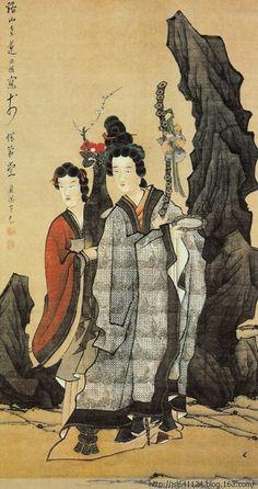 Chen Hongshou(陈洪绶) ,  麻姑献寿图 北京故宫博物院藏