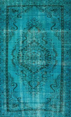 Rugs USA Overdye ACC600A Turquoise Rug