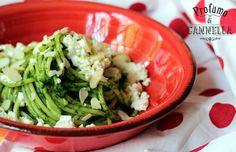 #vermicelli con #pesto di #spinaci, #feta e #mandorle per una #cucina salutare e di #stagione