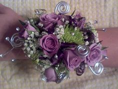 Prom Corsage: I love the kermits and s/h roses. I would use those colors for my wedding :)