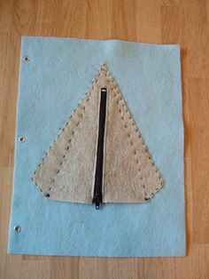 Zipper Teepee Felt Quiet Book Page Age 3 and up by pagebypage2, $4.50