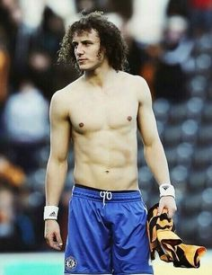 shirtless David Luiz - so hot