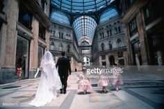 Stock Photo : Wedding party entering Umberto I