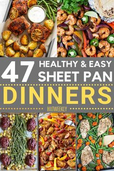 These are some of the best sheet pan recipes that are all super healthy, simple to make and tasty. Sheet pan recipes. Healthy Recipes For Weight Loss, Clean Eating Recipes, Healthy Weight, Healthy Food, Healthy Dinner Recipes, Healthy Dinners, Fast Meals, Lunch Recipes, Honey Balsamic Chicken