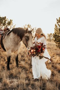 It's a Netflix-worthy Colorado Ranch Wedding with 10 guests! Beautiful scenery, a couple in love, and animals(!) made for the dreamiest day! Most Beautiful Images, Beautiful Scenery, Bridal Portrait Poses, Colorado Ranch, Bridal Pictures, Couples In Love, Bridal Looks, Camel, Netflix