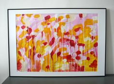 Large abstract expressionism painting