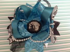 Marilyn Double layer bow by Ladyannasaccesories on Etsy, $16.00