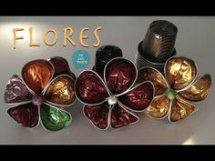 Flores hechas con capsulas de Nespresso - YouTube