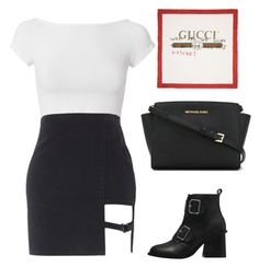 """Faded"" by skajackson ❤ liked on Polyvore featuring Helmut Lang, MICHAEL Michael Kors and Gucci"