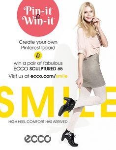 SMILE - HIGH HEEL COMFORT HAS ARRIVED. Visit us at http://ecco.com/smile