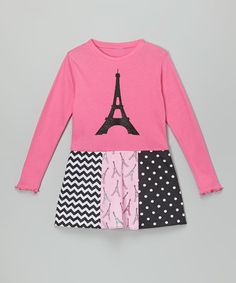 Look what I found on Pink Eiffel Tower Libby Ann Dress - Toddler & Girls by Beary Basics Toddler Girl Dresses, Toddler Girls, Paris Fashion, Parisian, Ann, Kids Shop, Tower, Graphic Sweatshirt, Sweatshirts