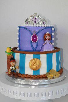Princess Sofia and Jake the Pirate Cake