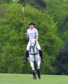 Prince William - Princes William and Harry enjoy the glorious weather by horsing around at a star-studded charity polo match