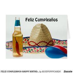 FELIZ CUMPLEANOS HAPPY BIRTHDAY SPANISH CARD Spanish Birthday Cards Happy In