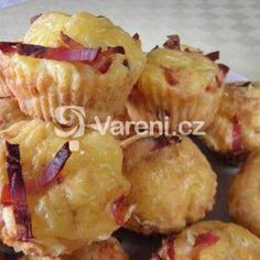 Fotografie receptu: Sýrové muffiny se slaninou Sweet Bar, Snack Recipes, Snacks, Bon Appetit, Baked Potato, Potato Salad, Muffins, Chips, Food And Drink