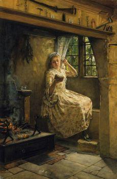 A Cosey Corner - : Francis Davis Millet 1848 - 1912
