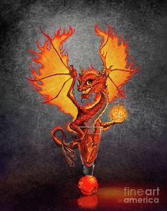 Fireball Dragon Digital Art by Stanley Morrison
