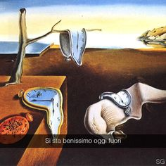 La persistenza della memoria - Salvador Dalì (1931) #stefanoguerrera #seiquadripotesseroparlare by stefanoguerrera