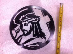 Jesus carrying cross metal cut outs