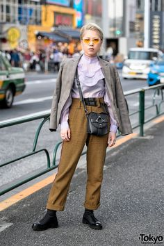Japanese Streetwear Style w/ Growing Pains & Jacket Draped Over Shoulders