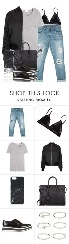 """Sin título #3881"" by hellomissapple on Polyvore featuring moda, Sans Souci, Yves Saint Laurent, Topshop, Native Union, Prada, Forever 21 y Marc by Marc Jacobs"