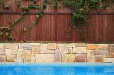 Natureed pool surrounds by House of Bamboo