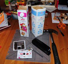 Villmarkshjerte: Hvordan lage en melkekartong-lommebok!!! Knife Block, Diy, Crafts, Bricolage, Crafting, Handmade Crafts, Do It Yourself, Diy Crafts
