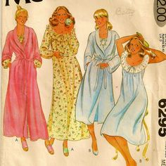 Robe+&+Nightgown+Pattern++Size+Medium+1416+Bust+36++by+SoSewSome,+$5.00