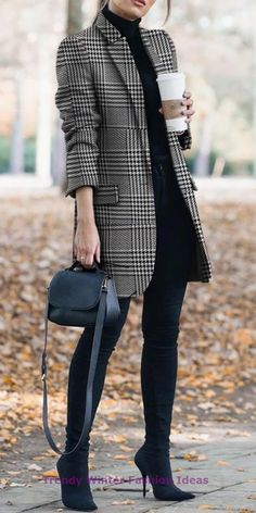 herbst und winter vintage druck anzug jacke & chaqueta de traje de impresión vintage de otoño e invierno Summer Work Outfits, Casual Work Outfits, Work Casual, Fall Outfits, Work Attire, Black Outfits, Office Outfits, Stylish Outfits, Casual Wear