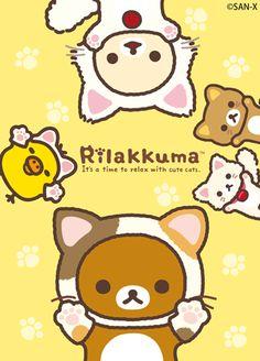 リラックマ ごゆるりサイト 2015.10 もっと♪のんびりネコテーマ |リラックマヒストリー