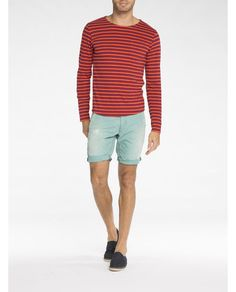 Langärmliges T-Shirt mit Streifen - Scotch