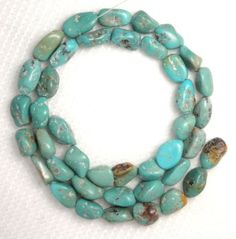 Turquoise-Gemstone-Nugget-Beads-16-Std-Natural-Blue-Color-Craft-Jewelry-321