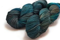 Squall Hand Dyed Yarn Fingering Weight by FoxandFlowerYarn