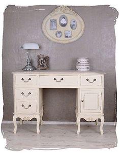 Antiker Schreibtisch, Computertisch, Schreibmöbel, Sekretär, Arbeitstisch, Tisch aus Holz im angesagten Vintage-Stil in Weiß - Palazzo Exclusive, http://www.amazon.de/dp/B00MBI3D8A/ref=cm_sw_r_pi_awdl_HlnMwb1AWWWHY
