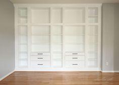 IKEA-hack: Platsbygg bokhylla med IKEA-hyllor som grund