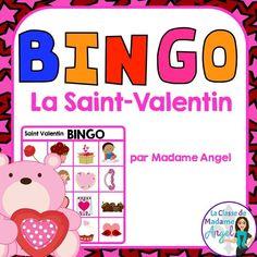Jeu de Bingo pour la Saint-Valentin!  French Bingo game for Valentine's Day.