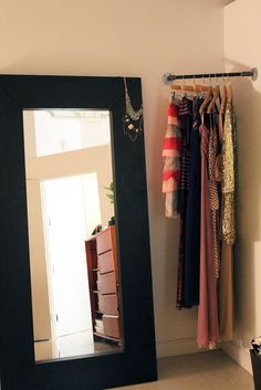 Corner dress rail - perfect for planning outfits for the week