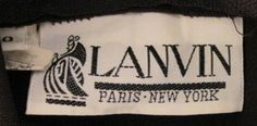 Lanvin Paris New York Vintage Dress Label