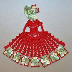 Crinoline Lady tapetito de ganchillo. Decoración para el