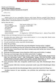 Contoh Surat Lamaran Kerja Untuk CPNS | ben jobs