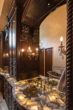 An exquisite master bath - mediterranean - Bathroom - Other Metro - DSI-designs