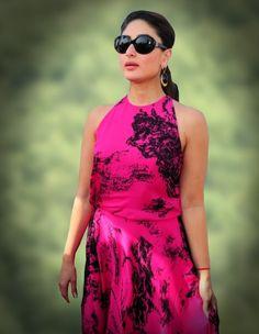 Kareena Kapoor Khan in black round sunglasses