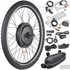 Front/Rear E-Bike Hub motor conversion kit. Dual Mode Controller: Motor works under Hall effect and non-Hall effect.Quiet and reliable Brushless Gearless Hub Motor. Electric Bicycle Kit, Best Electric Bikes, Electric Bike Motor, Fat Bike, E Bike Kit, Bike Motor Kit, E Biker, Bicycle Wheel, Bicycle Engine