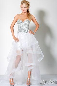 Jovani High Low Jewel Wedding Reception Dress 172067...very nice!!
