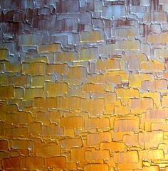Original Abstract Painting Gold Metallic Palette by Laffertyart
