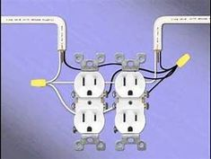 Wiring diagram for a row of receptacles multiple receptacles 14 two gang receptacles double electrical outlet asfbconference2016 Images