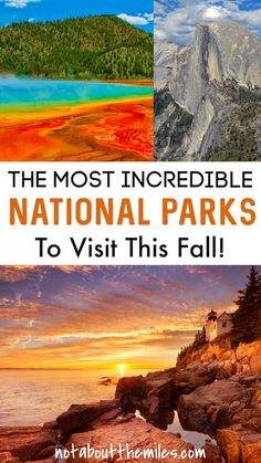 National Parks to Visit this Fall Visit Yellowstone, Yellowstone National Park, Cool Places To Visit, Places To Travel, Travel Destinations, Vacation Spots, Italy Vacation, Vacation Ideas, Travel Inspiration