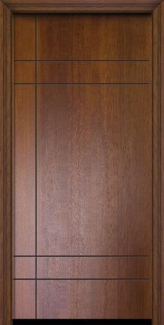 Contemporary Modern Exterior door by GlassCraft in Single Door in Fiberglass and the texture is Mahogany Flush Door Design, Home Door Design, Bedroom Door Design, Door Design Interior, Wall Design, Wooden Front Door Design, Main Entrance Door Design, Double Door Design, Wooden Front Doors