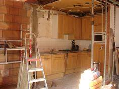 de keuken is al bijna weg